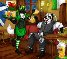 COMMISSION + At the pub by x-Mlice