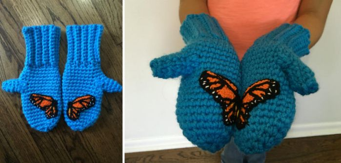 Monarch Mittens by Brookette