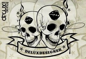 Skull vector by deluxdesign