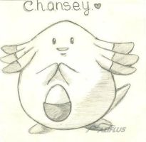 Chansey by 99scribbles