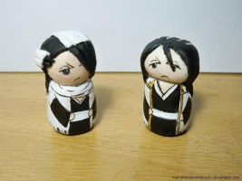 The two versions of Byakuya by MariaHasAPaintBrush