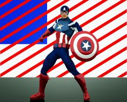 Captain America 2nd skin textures for Daz3d M4 by hiram67
