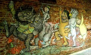 Chalk Art: Where the Wild Things Are by CrazyHarrison