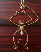Inspired Wire Cat Charm... by BenaeQuee