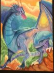 Watercolour Dragon by CherryZee