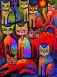 Colourful kittens by karincharlotte