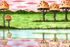 lakeside mushrooms by anuvys