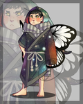 002 Butterfly Kimono Adopt [CLOSED] by ZebbsAdopts