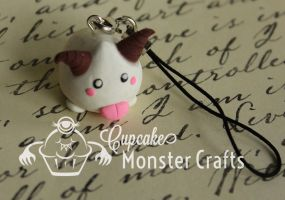Hand made Poro Cell Phone Charm by CupCakeMonster2