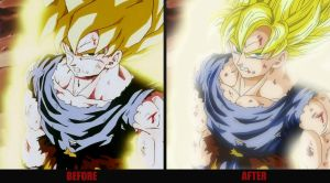 Goku First time SS Redraw by Elyas11