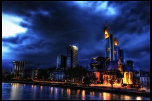 Frankfurt Skyline by Riot23