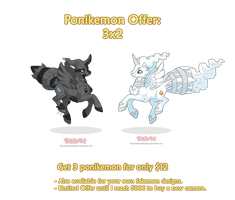 Ponikemon Offer: 3x2 by MySweetQueen