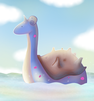 Lonely Lapras by ice-cream-skies