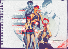 Rihanna wall4 by carlahere