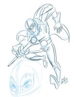 Fly-blue-sketch by javierhernandez