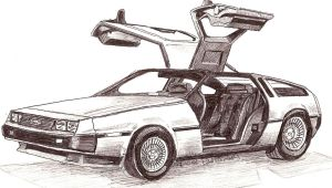 delorian car by keef-kdni
