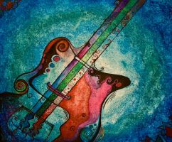 Melting Bass Guitar by Kimmie028