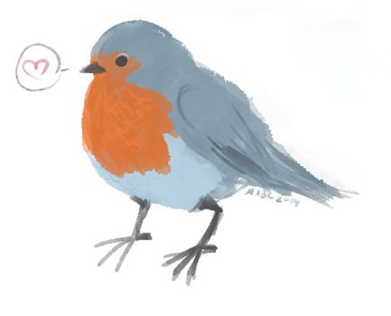 Robin doodle by mabcdraws
