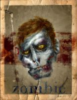 ZOMBIE COLLECTIBLE CARD by sagast