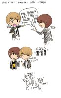 jonghyun's bday party - jongyu by keyandsnickers