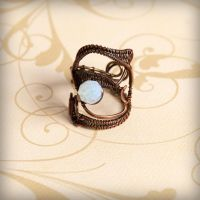Wire wrapped copper ring - AUTUMN by VesnaMaric