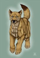 My Fursona (Feral) (Commission) by Crimsonpelt