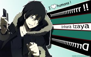 Drrr wall I love humans by Yamakara