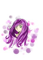 Purple Hair Sketch by KA5UMICHAN