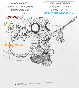 Chibi Spiderman for the Chibi Tarot! by epimetheus