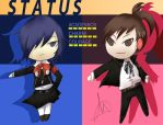 P3 Cross-dress Chibis by Arcsol