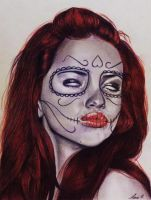 Sugar Skull Red by laart39
