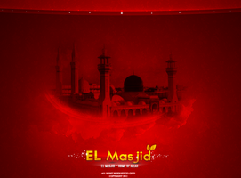 awsome text effect 2 - el masjid home of allah by Q-des