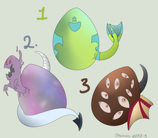 Demon Egg Adopts (All Sold) by CannibalHarpy