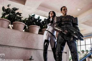 Commander Shepard and Miranda Lawson by ToadyMcToadster