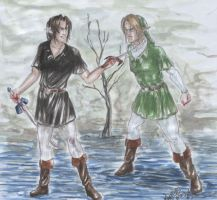 Link Vs Dark Link by the-infamous-padfoot