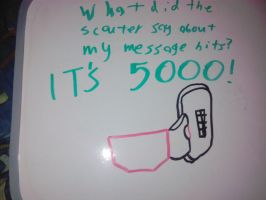 The scouter reads 5,000 message hits! by LDEJRuff