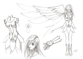 One-Winged Angel - Sketch by 043152F