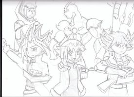 yugioh, GX, 5d's characters by krioss