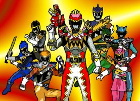 Eight Kyoryugers by LavenderRanger