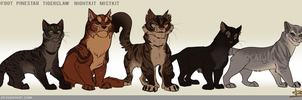 Tigerclaw family by Belka-1100