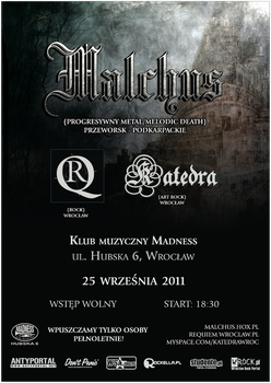 Malchus - concert poster by manoftheoak