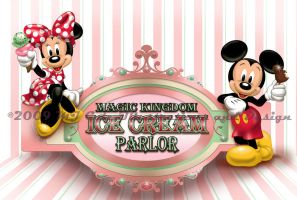 Magic Kingdom Ice Cream Parlor by mjcole