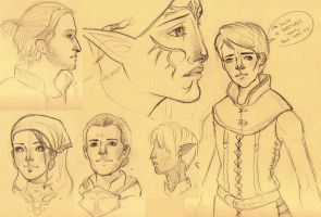 DAII Sketches by molliejean