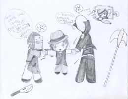 DeFoe and The Prince vs Trilby by Strider-Tina