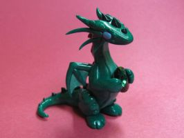 Emerald Green Dragon by DragonsAndBeasties