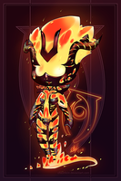 Flame Atronach by chicinlicin