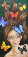 The Butterfly Faerie by Phoenixartstudio
