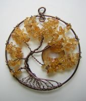 Twisted Citrine Tree of Life with Moon *GIFT* by RachaelsWireGarden