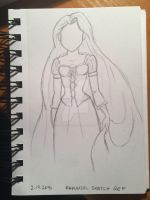 Yet another Glen Keane reference sketch by littlewaysoul