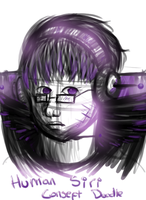 Human Siri Concept Doodle by FeatheredSoap